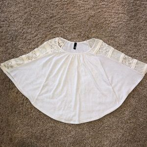Ing Ivory Butterfly Sleeve Shirt